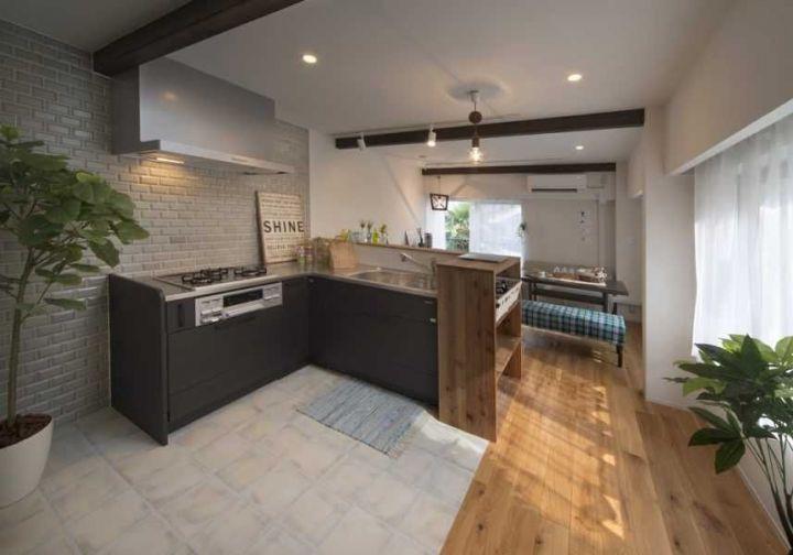 【キッチンデザインの教科書】6. 事例|面積30~40㎡台|デザインにワザあり!オシャレなキッチン6選