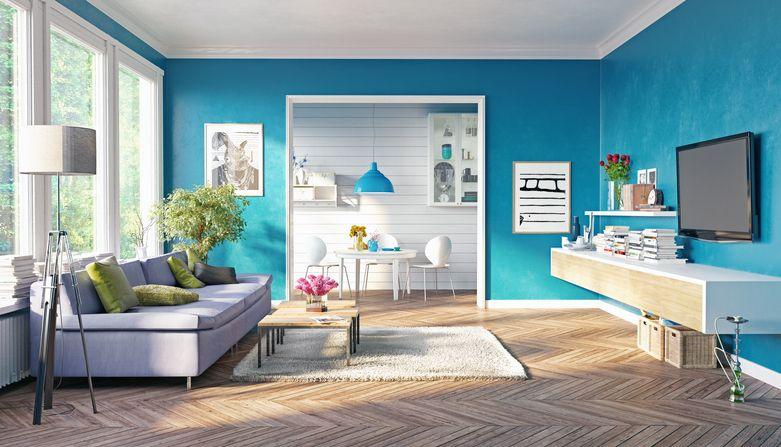 海外住宅の壁紙 塗り壁特集 オシャレデザインな家で カラフルに色と