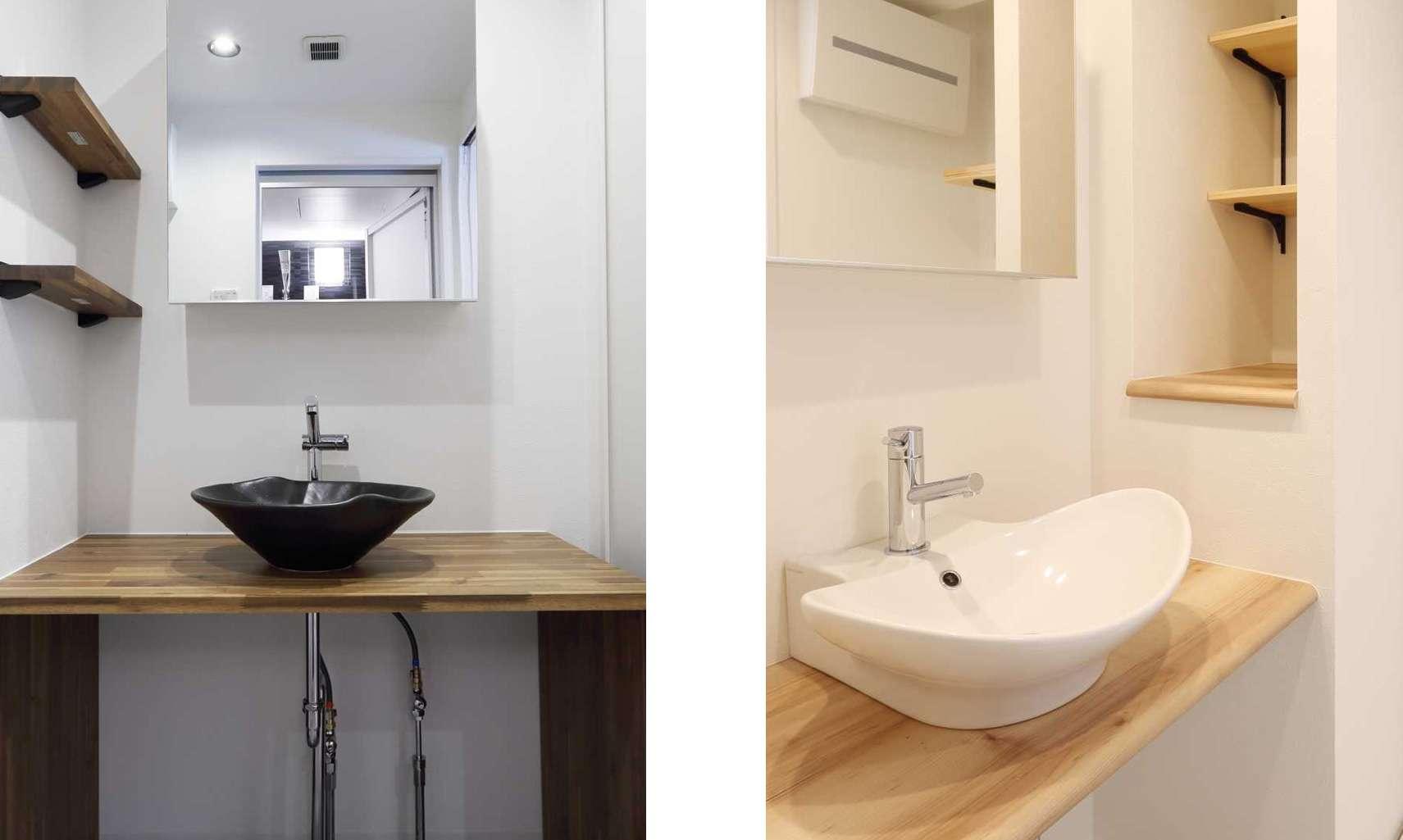 三面鏡じゃない洗面所がリノベーションっぽい!おしゃれな洗面所特集 画像