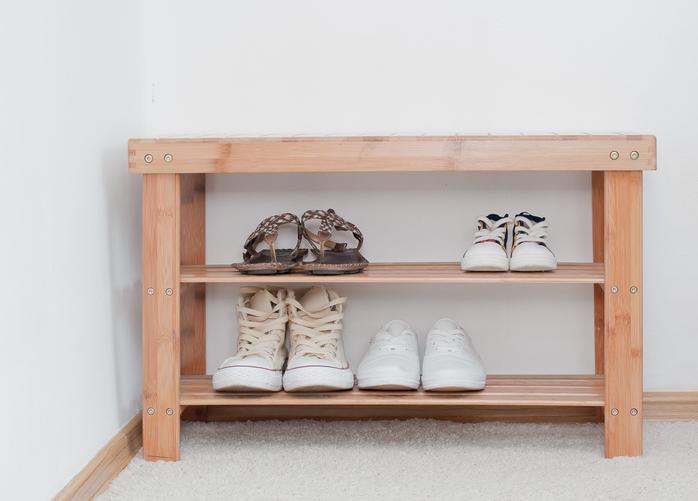 玄関の靴を整頓するための簡単DIY