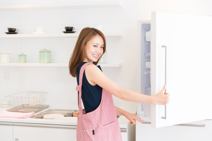中を見られても恥ずかしくない冷蔵庫!