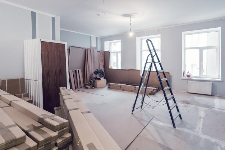 【現状回復OK!】古い和室から洋室へセルフリノベーション 画像
