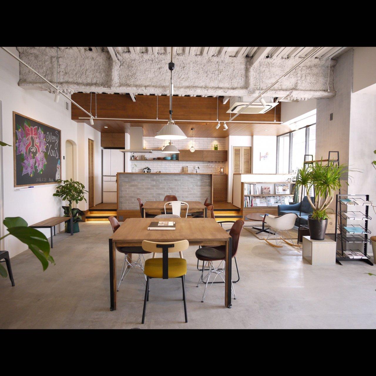 リノベ不動産|General Act Design ショールーム3 リノベ後を体感出来る大人モダンなカウンタキッチンがあるメイン