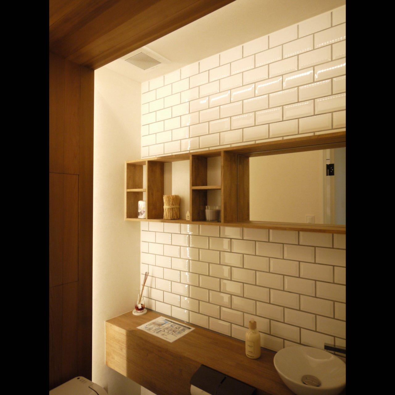 リノベ不動産|General Act Design ショールーム9 メイン空間と同じモダンなトイレは通常のサイズよりゆったりした