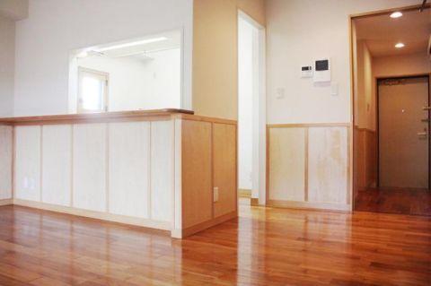 「LDK」約12.6帖 角部屋、南東バルコニーに面する明るい