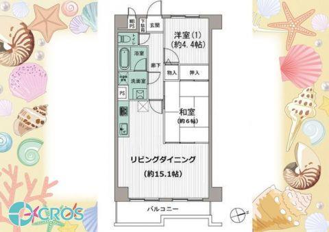ライオンズマンション三郷第二 コンパクトな広さながらもLDKはゆったり15・1帖の広さです