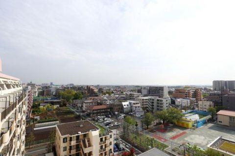 芦花公園スカイハイツ 「眺望写真」最上階、10階住戸に