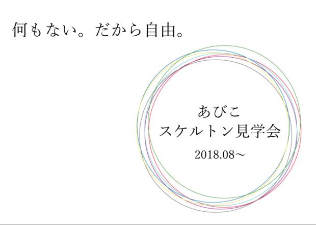 【イメージ膨らむ♪】大阪あびこ・スケルトン見学会