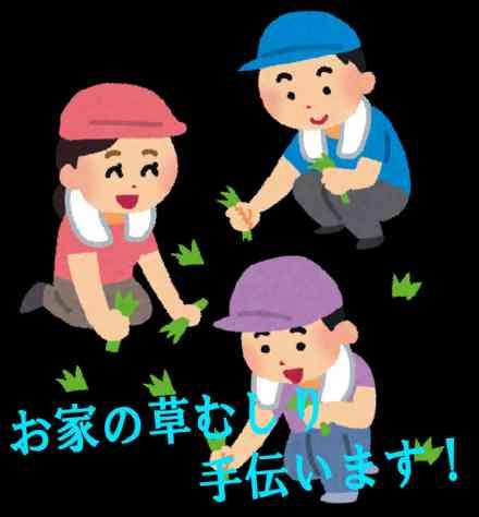 無料でお助け隊!!!~夏場の草むしり~