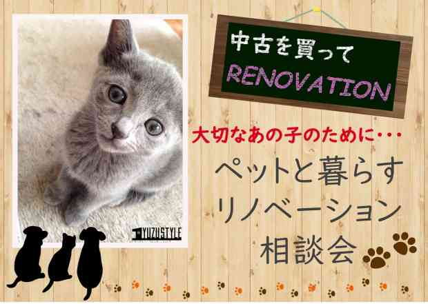 ペットと暮らすリノベーション相談会