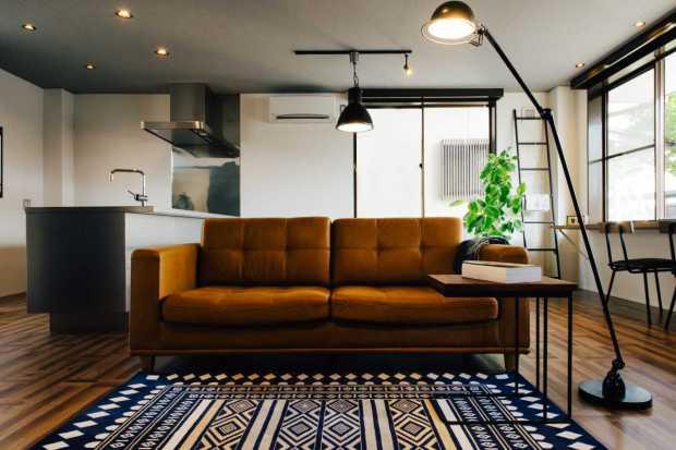 ヴィンテージの家具が似合う、心地よい空間