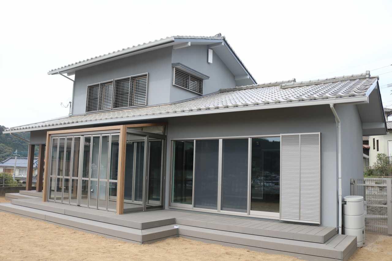 外壁塗装・ガーデンルームGF+ウッドデッキ